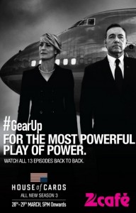Season 3 of House of Cards on Zee Cafe