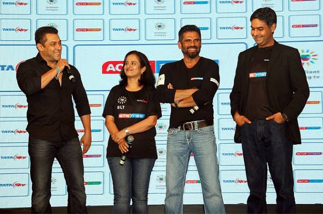 """Tata Sky Actve Fitness"" Launched by Salman Khan 