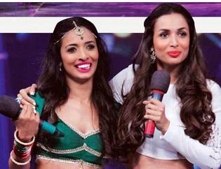 Malaika Arora Khan and Pooja   India's got talent 2015