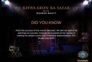 'Khwaabon Ka Safar with Mahesh Bhatt' Epic TV Show Wiki, Timing, Host